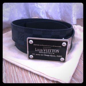 Authentic Men's Louis Vuitton Inventeur Belt
